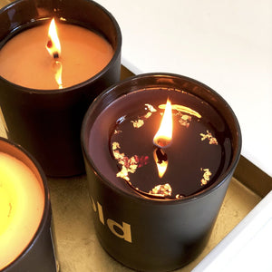 24 CARAT GOLD BLACK . LUXURY CANDLE GIFT