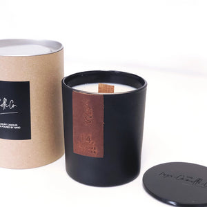 TAN LEATHER LUXURY SOY WAX CANDLE - 14 ANTIQUE LEATHER