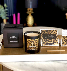 Leopard lovers candle