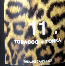 tobacco and tonka bean scented candle