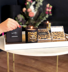 I've never met a leopard print I didn't like - Clare founder of The Luxe Candle Co's favourite quote