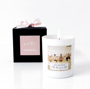 Personalised photo candle for Mothers Day Gift