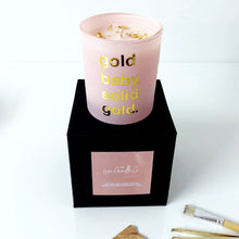pink and gold candle luxury valentines gift
