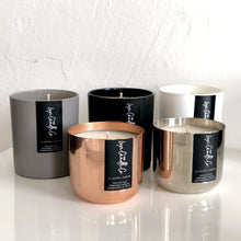 BLACK . SIGNATURE COLLECTION . CHRISTMAS SCENTED SOY WAX CANDLE . CHOOSE YOUR FRAGRANCE