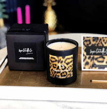 Leopard print home accessory - Luxe candle in black and animal print