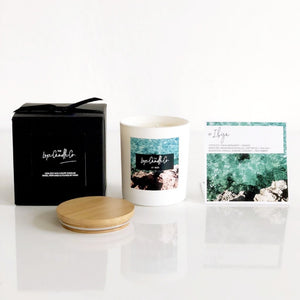 SCENTED CANDLE . THE TRAVEL EDIT . IBIZA . WHITE