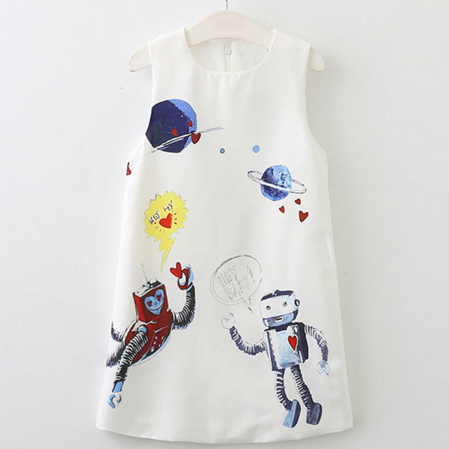 Robot and Planets Dress