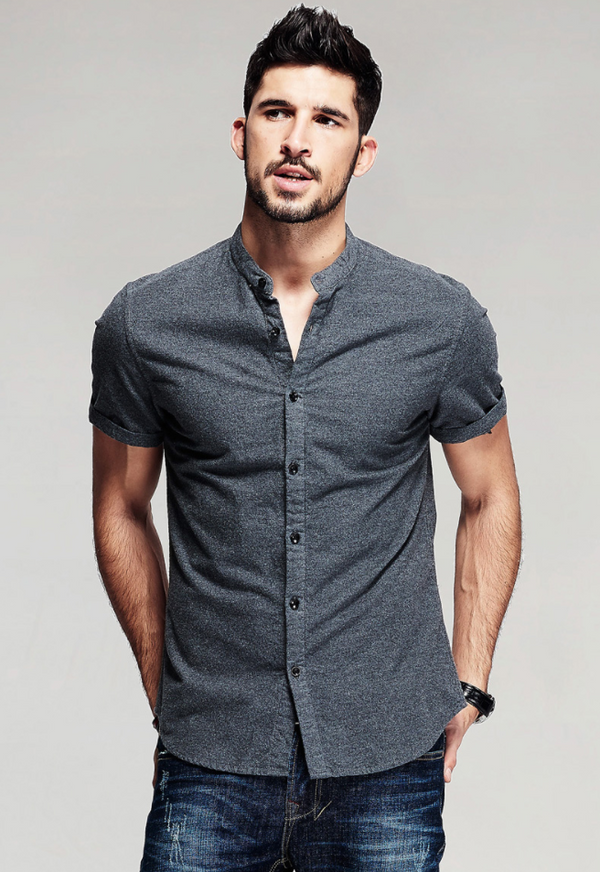 Short Sleeve Slim Shirt