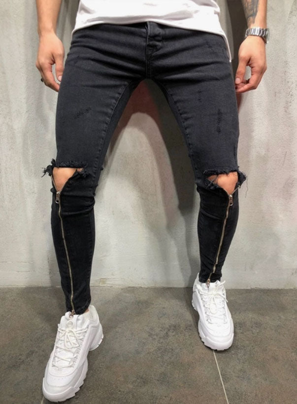 Slim Zipper Jeans