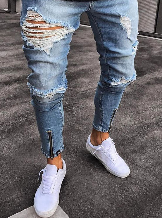 Stretchy Destroyed Jeans