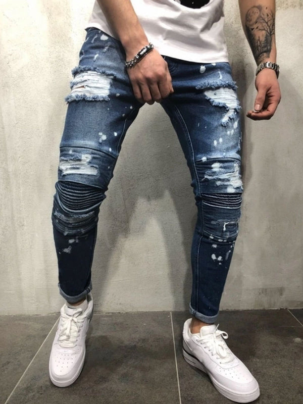 Destroyed Painted Jeans