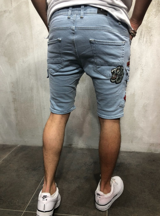 Painted Jeans Shorts