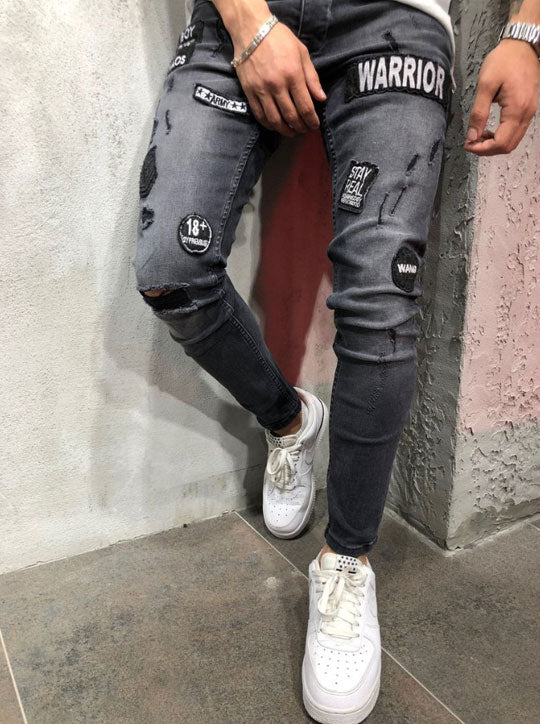 Street Patched Jeans