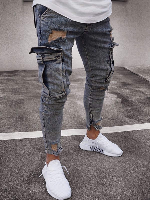 Pocket Ripped Jeans