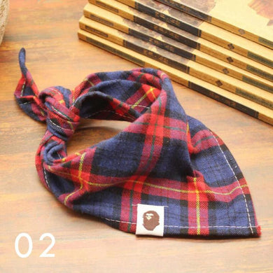 Little Bro Bib - Red/Blue Plaid
