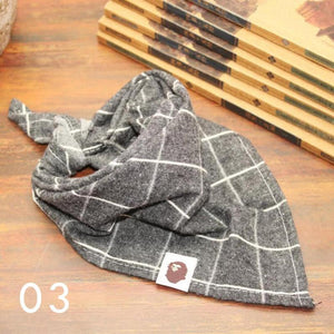 Little Bro Bib - Grey Plaid
