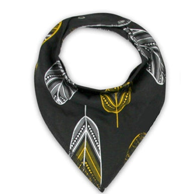 Little Bro Bib - Black/Yellow Feather