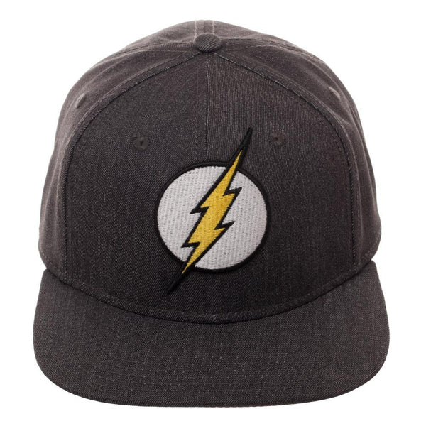 9ab041ed ... Flash DC Comics Embroidered Logo Flatbill Flex Baseball Cap ...