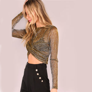 Magic Metallic Brown Diva Top