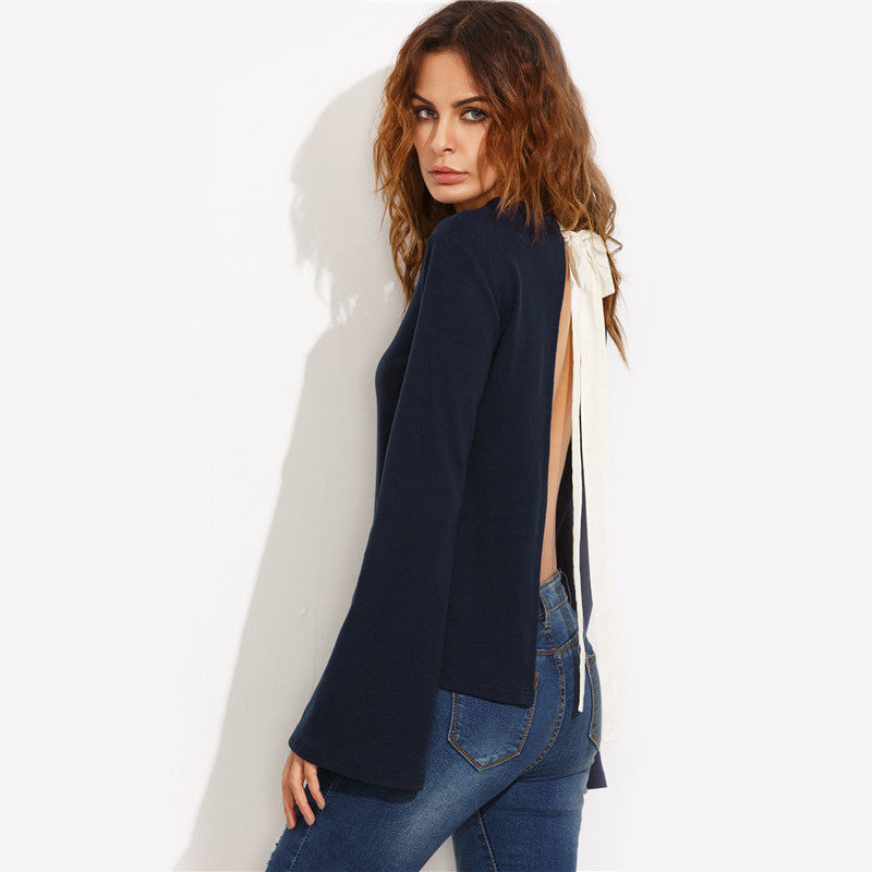 Keeping it Casual Tie Blouse
