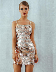 'Brooke' Spaghetti Strap Sequined Sexy Dress