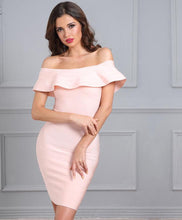 Meghan Butterfly Sleeve Slash Neck Sexy Dress