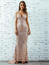 Sofia Backless Spaghetti Strap Sequin Dress