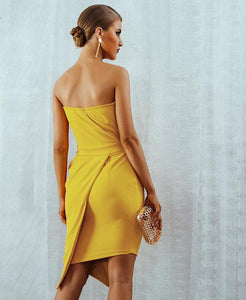 Strapless Elegant Side Zipper Dress