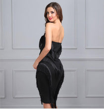 Strapless Zipper Bodycon Dress