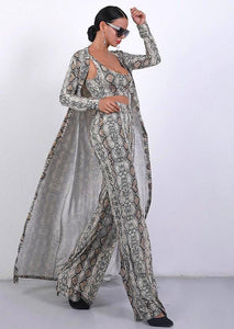 'Kendall' Sexy Cloak Three Pieces Snake Print Set