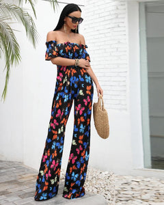 'Hadley' Butterfly Backless Jumpsuit