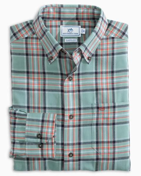 Southern Tide Brushed Twill Plaid Buttondown Sportshirt