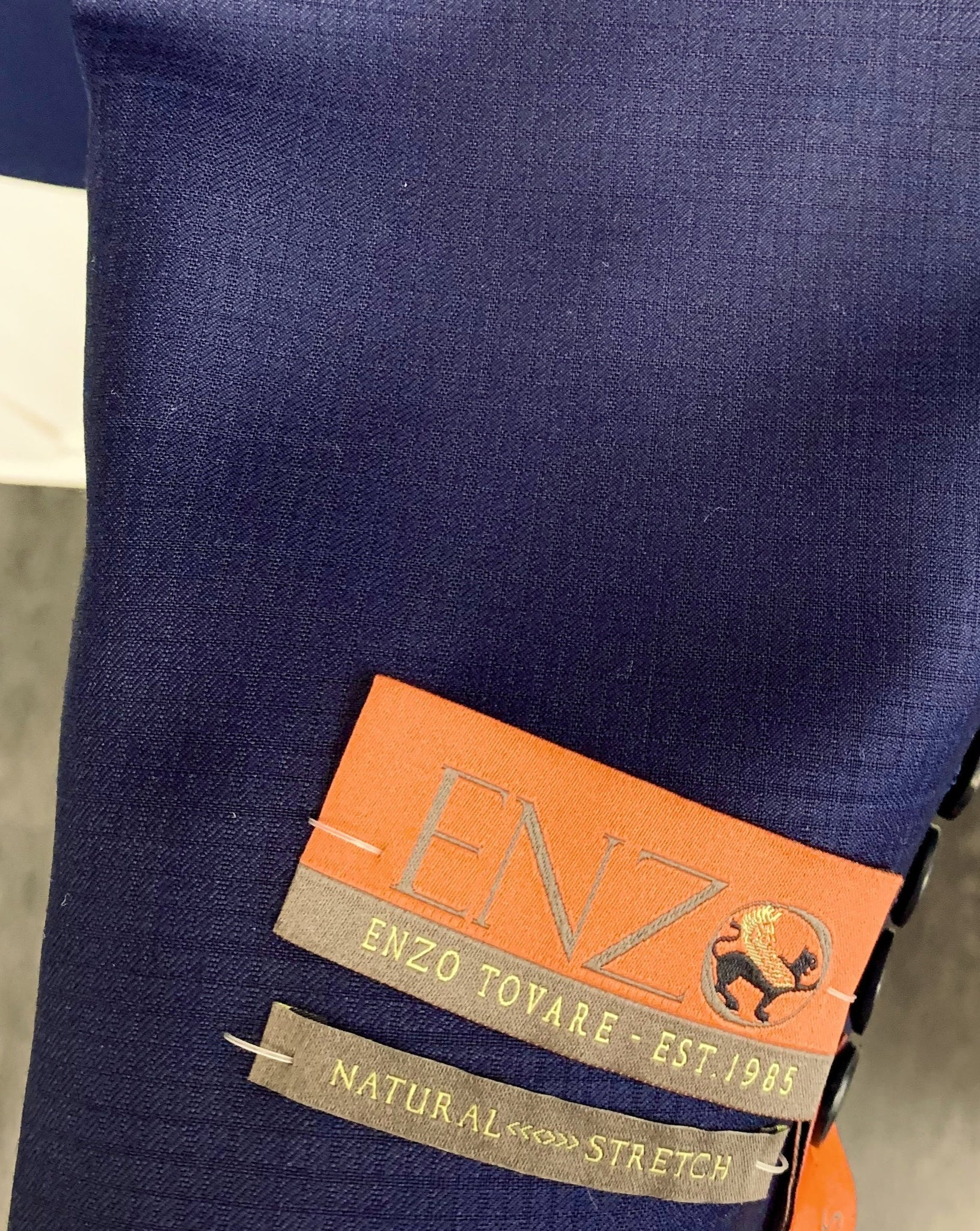 Enzo Super 150 Wool Suit- 84506-2 (Navy Tonal Check)