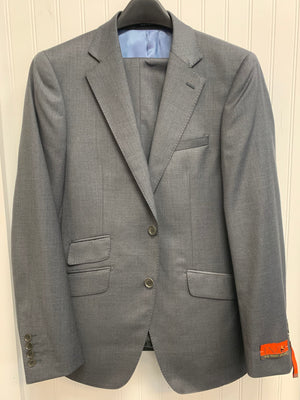 Enzo Super 150 Wool Suit- 59663-5 (Solid Gray)