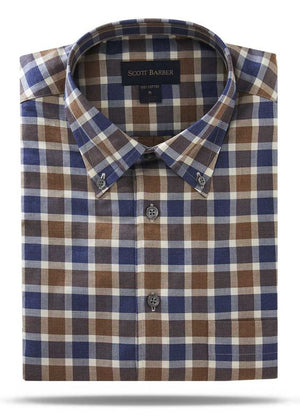 Scott Barber Cotton Melange Buttondown - 45099
