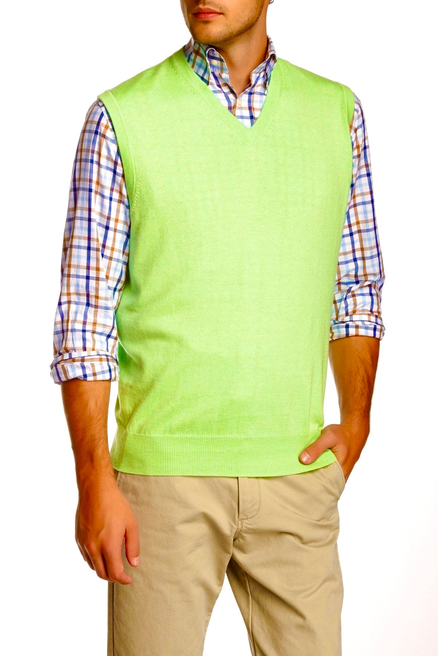 Peter Millar Cotton/Cashmere V-Neck Vest MF15S11