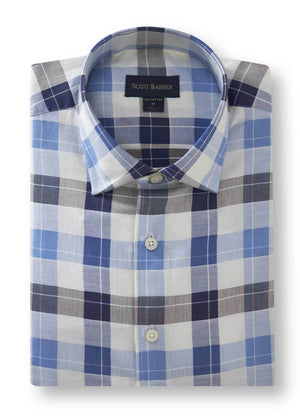 Scott Barber Twill Plaid Shirt 62088