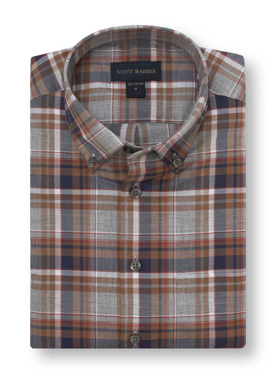 Scott Barber Cotton Melange Sport Shirt 65050