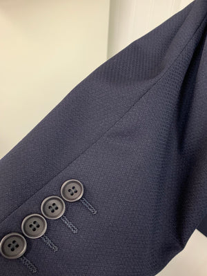 Mantoni Super 140 Wool Suit- 87140-3 (Navy Diamond Texture)