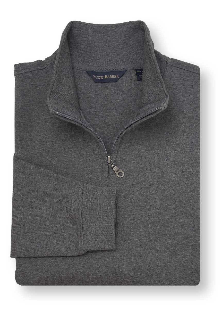 Scott Barber Pima Cotton Interlock 1/4 ZIP Mock