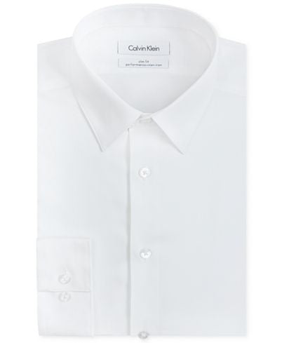 Calvin Klein Performance Slim Fit Dress Shirt - White