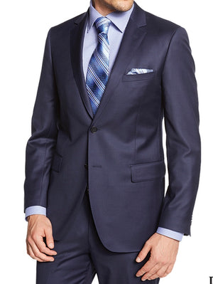 Enzo Super 150 Wool Suit- 59663-6 (Solid Blue)