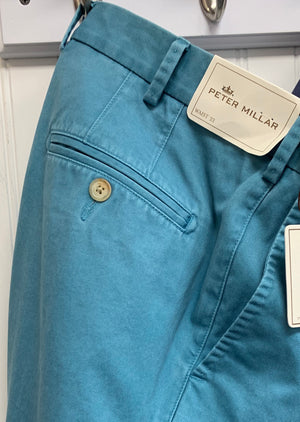 Peter Millar Raleigh Washed Twill Flat Front Pant MF17B84