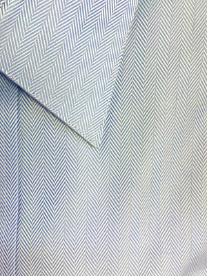 Giovanni's Herringbone Modified Spread Dress Shirt - Blue-12