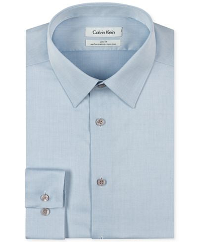 Calvin Klein Performance Slim Fit Dress Shirt - Lt. Blue