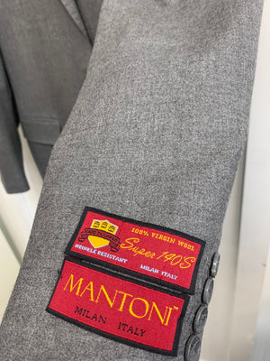 Mantoni 100% Wool Cashmere Suit- 78870-1 (Gray)
