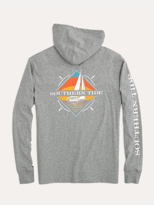 Southern Tide L/S Heather Sailboat Hoodie Tee