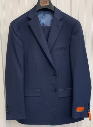Enzo Super 150 Wool Suit- 84548-1 (Navy/Burgundy Windowpane)