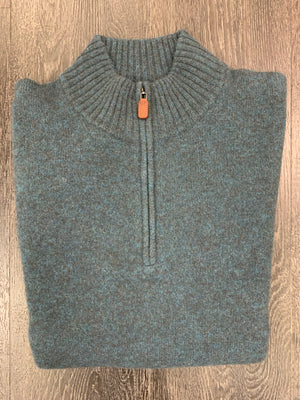 Scott Barber Merino Yak 1/4 Zip Mock sweater