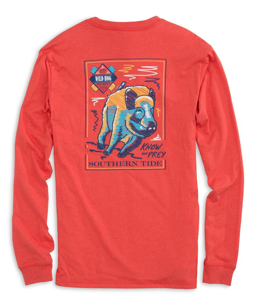 Southern Tide Know Your Prey Wild Hog L/S Tee 3388